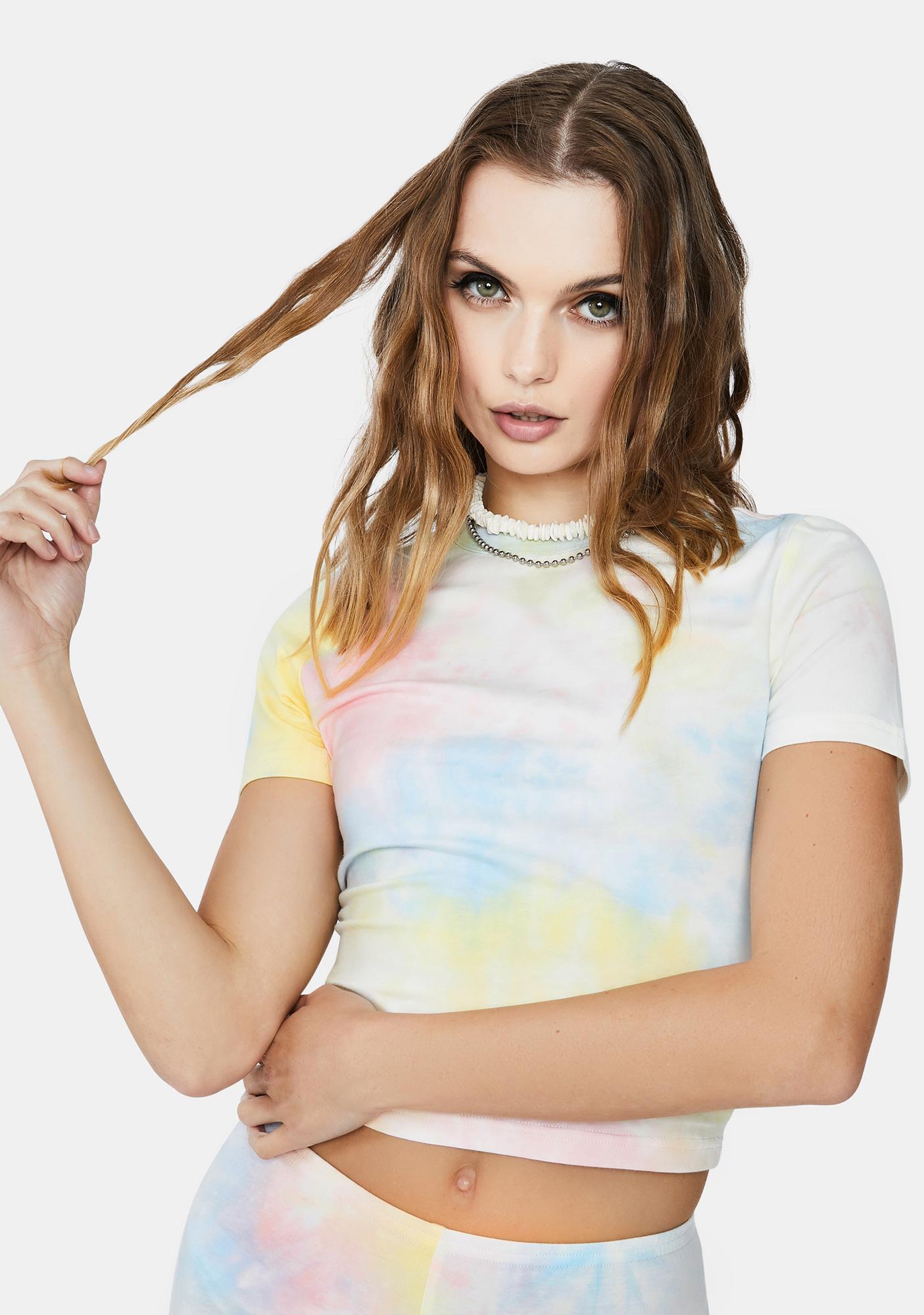 Re Named Molly Tie Dye Crop Tee