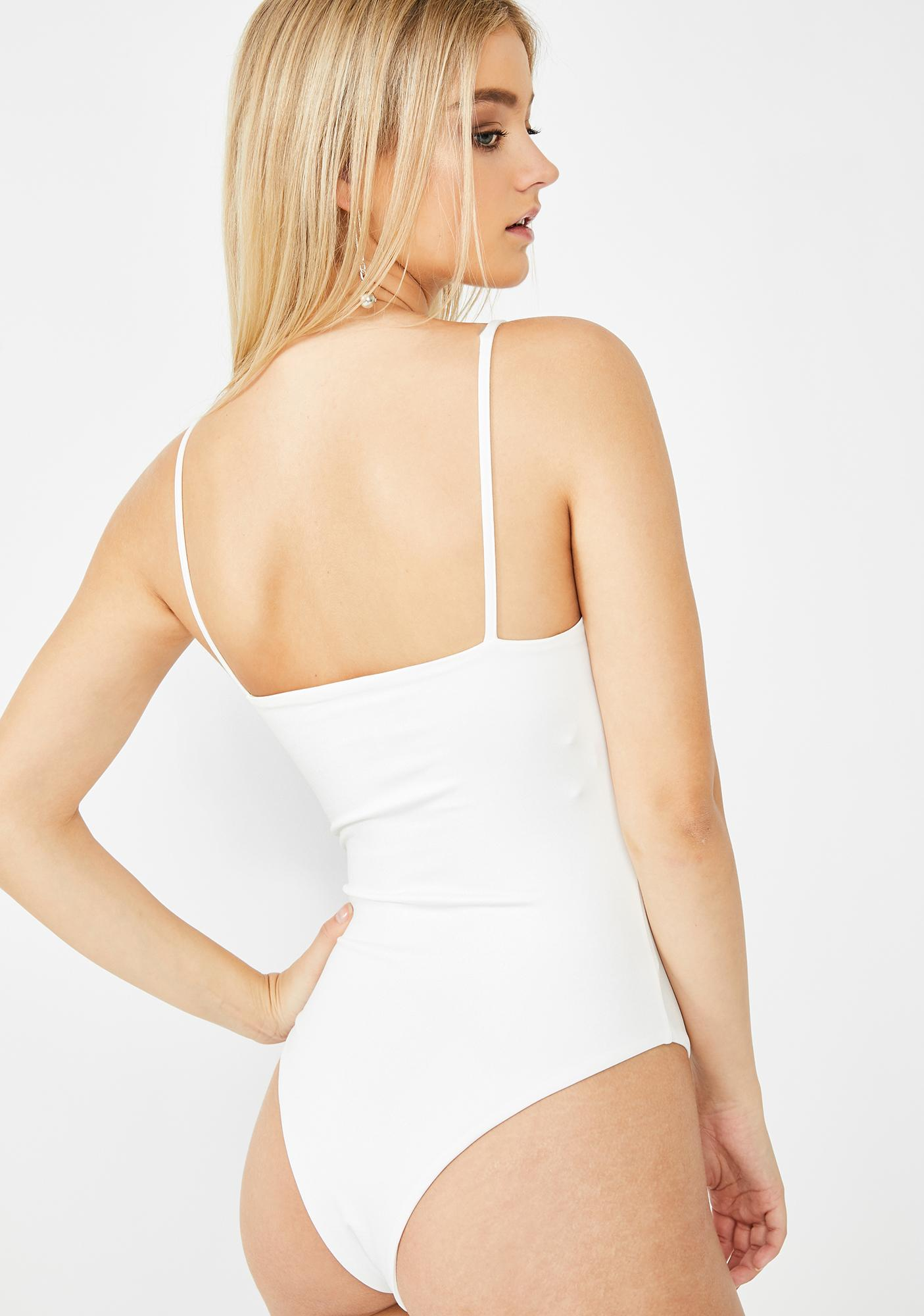 SNDYS. THE LABEL White Penelope Bodysuit
