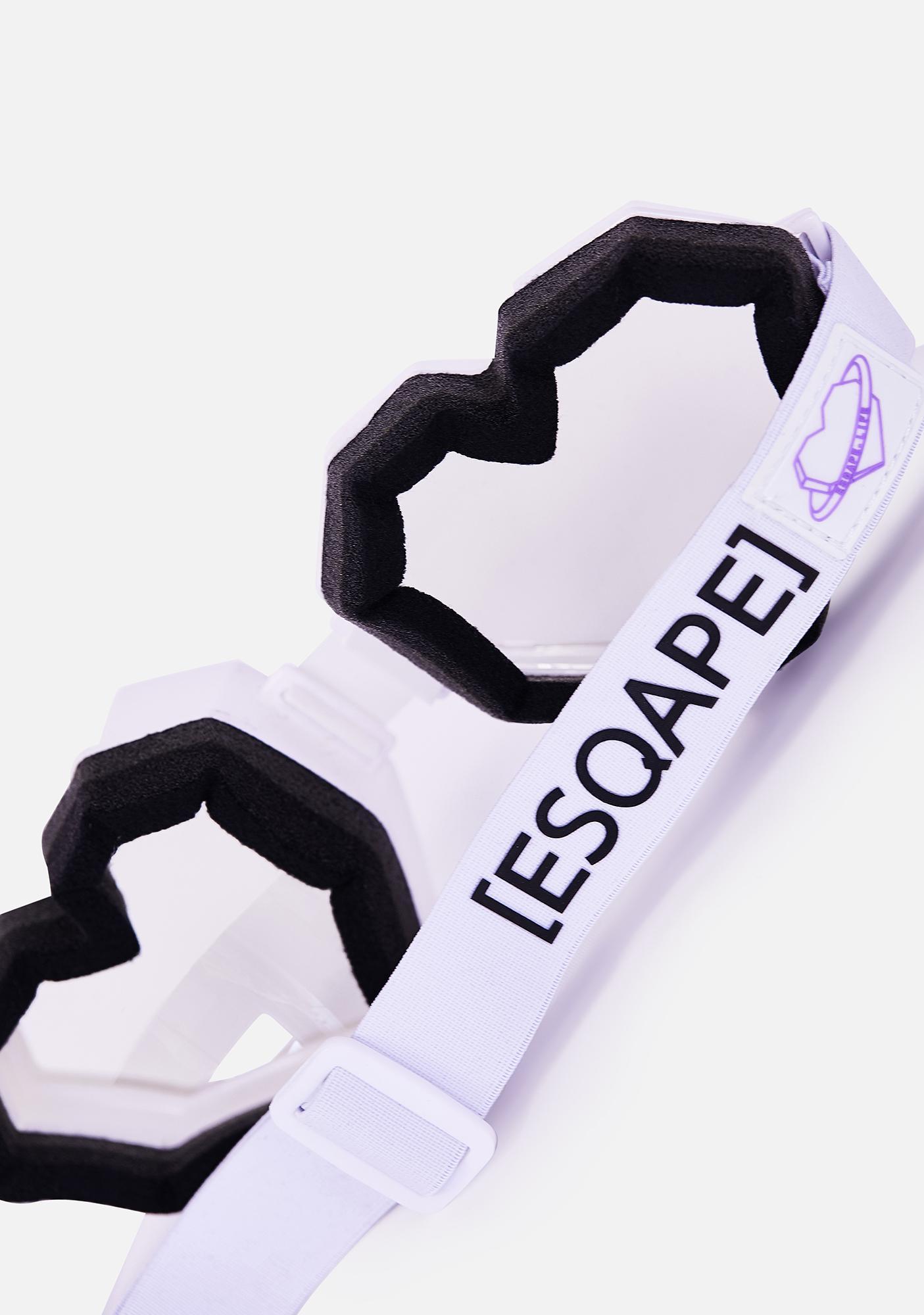ESQAPE White Monochrome Heart Goggles
