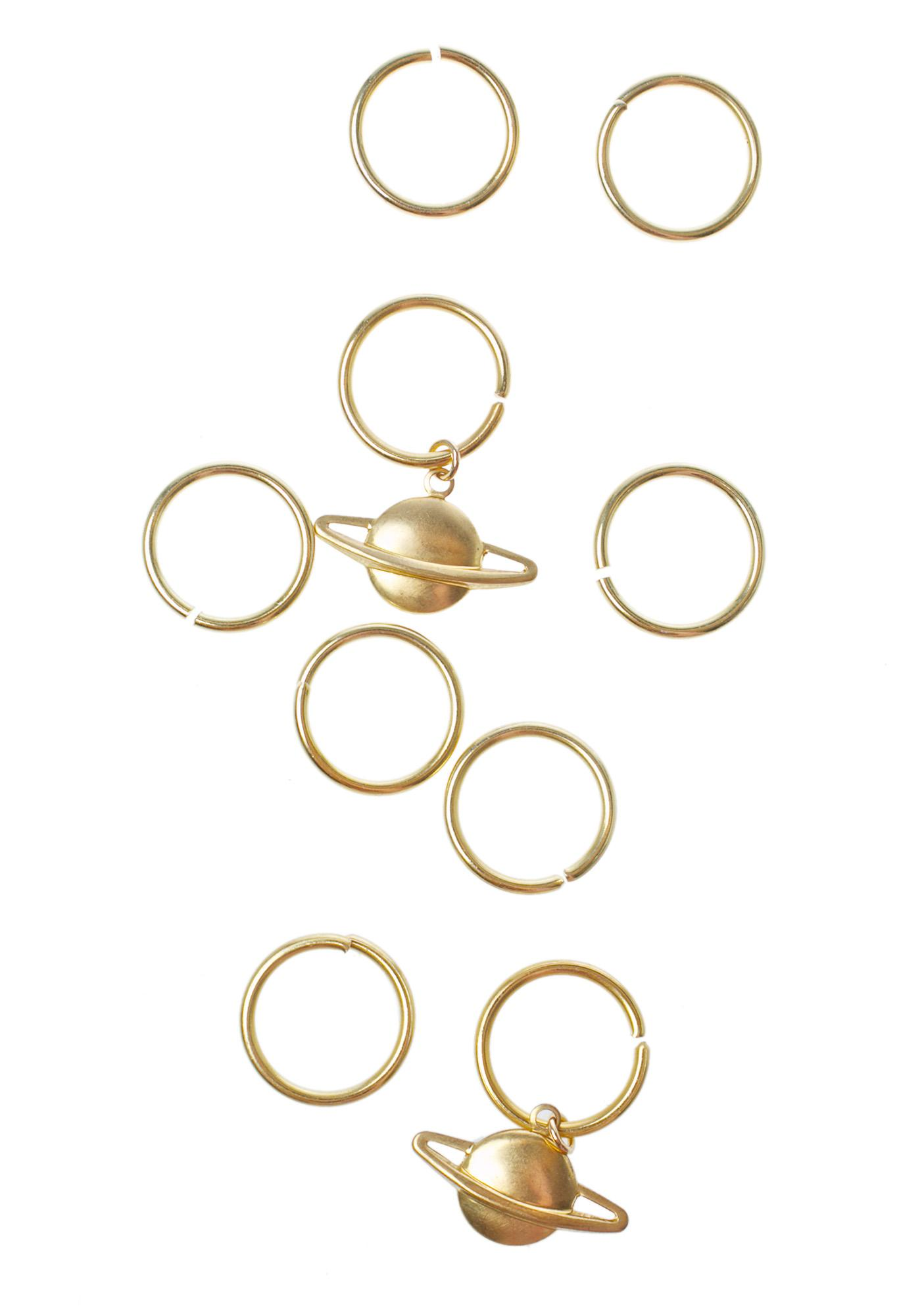Regal Rose Planetary Aeon Hair Rings