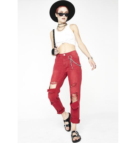 One Teaspoon Red Envy Awesome Baggies High Waist Jeans