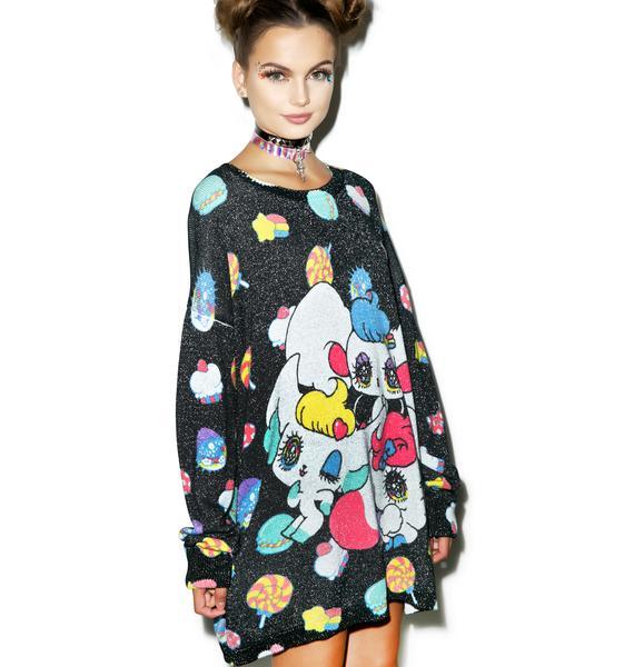 Japan L.A. Peropero Sparkles Knit Sweater