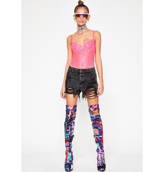 Candy Luxx N' Lavish Sheer Bodysuit
