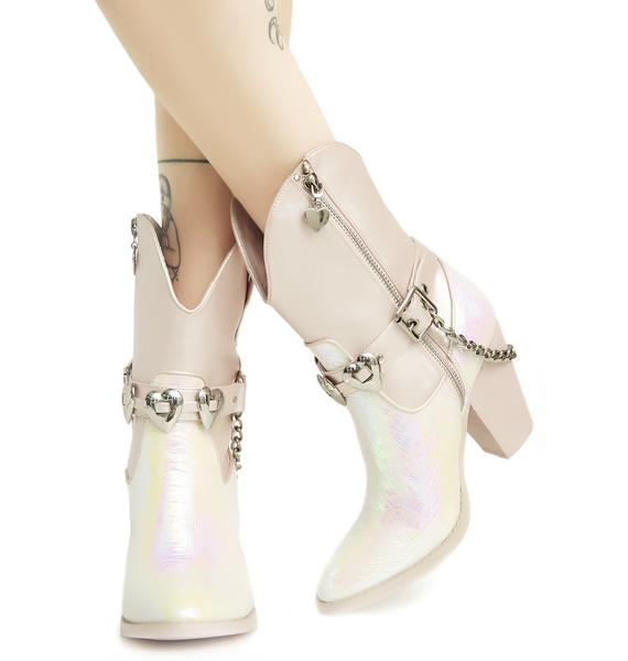 Sugar Thrillz Mirage Iridescent Cowboy Boots