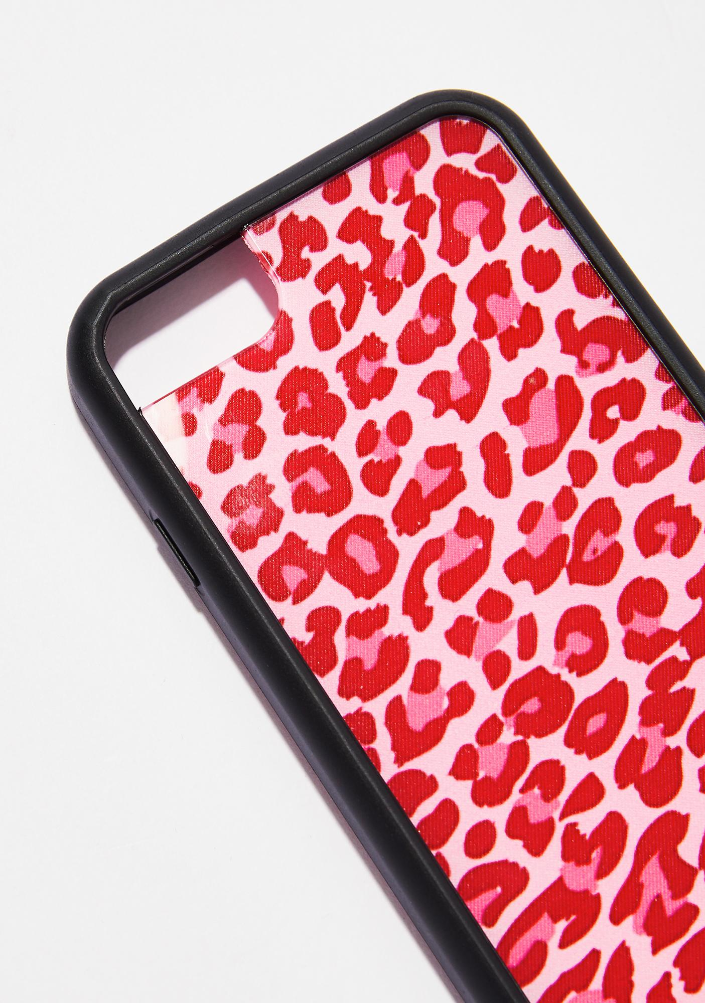 Wildflower Pink Leopard iPhone Case