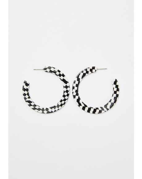 Speed Racer Checkered Hoops