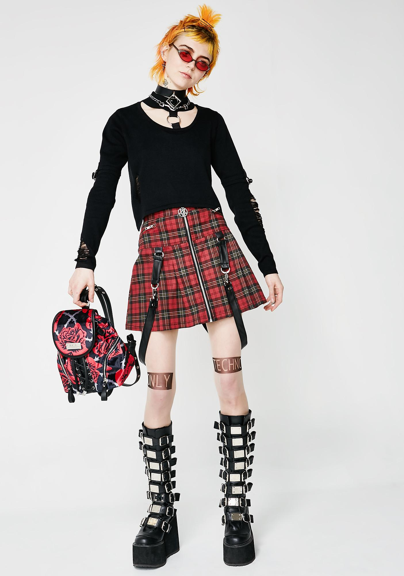 Killstar Dead Beatz Mini Skirt