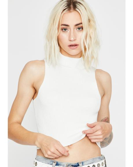 Ivory Lil Independent Ribbed Tank