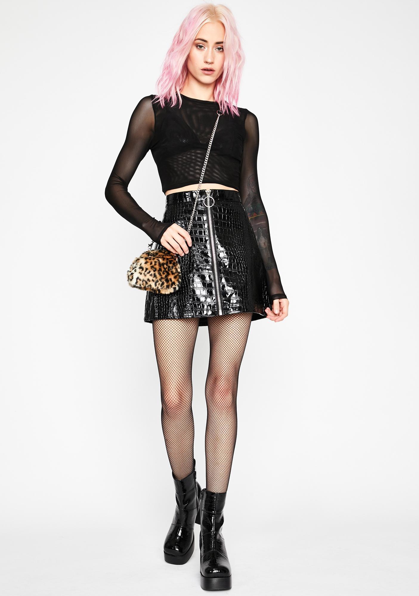 Current Mood Croc My World Mini Skirt