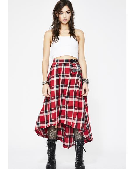 Tardy Thotty Plaid Skirt