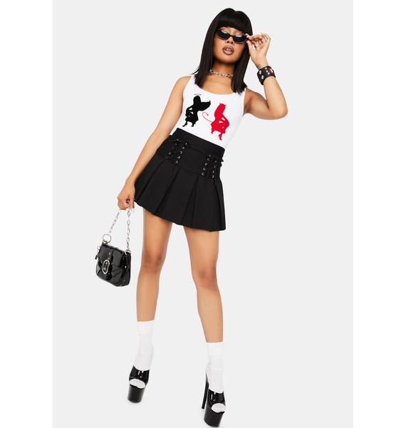 Modern School Girl Pleated Skort