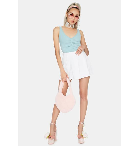 Sky Just Feels Right Ruched Bodysuit