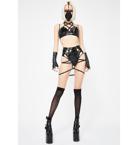 Forplay Be My Stud Caged Panty Skirt