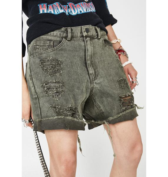 The People VS Gusset Denim Shorts