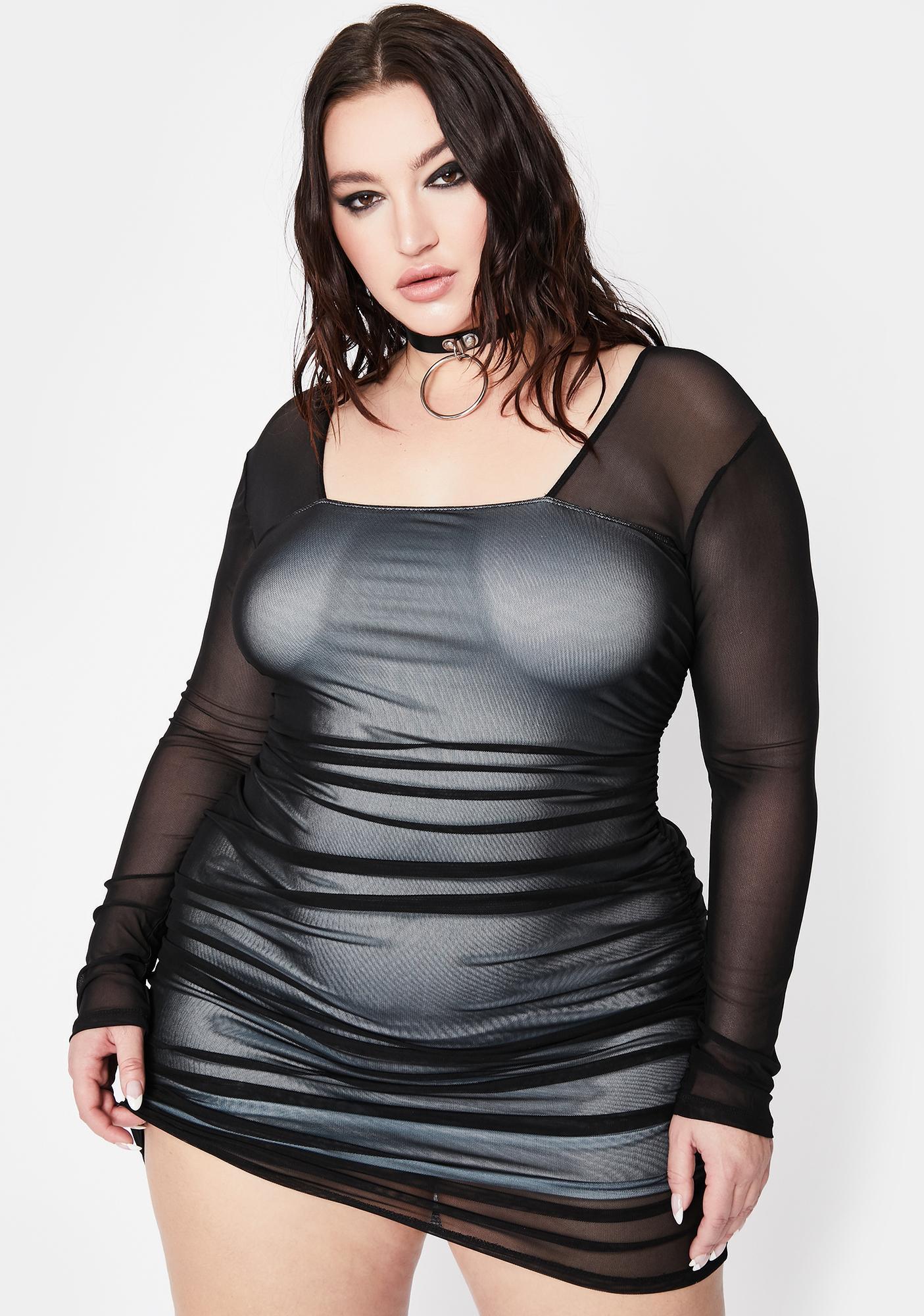 Current Mood Got Rough Luck Ruched Dress