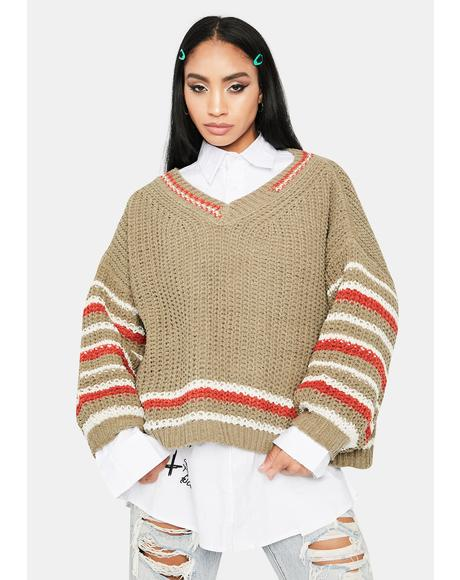 Fallen Cosmic Stripe Knit Sweater