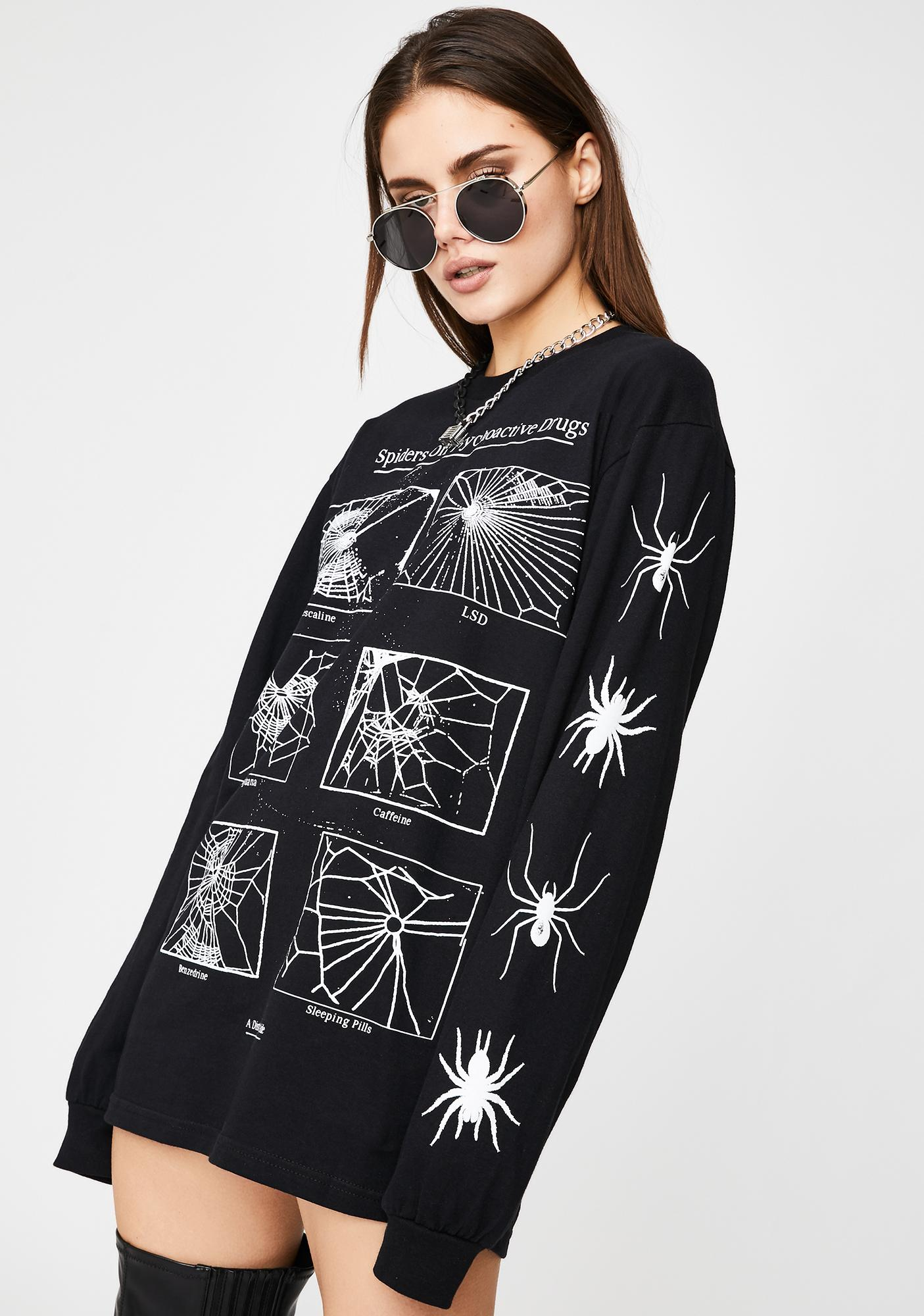 Disturbia Spiders Graphic Long Sleeve