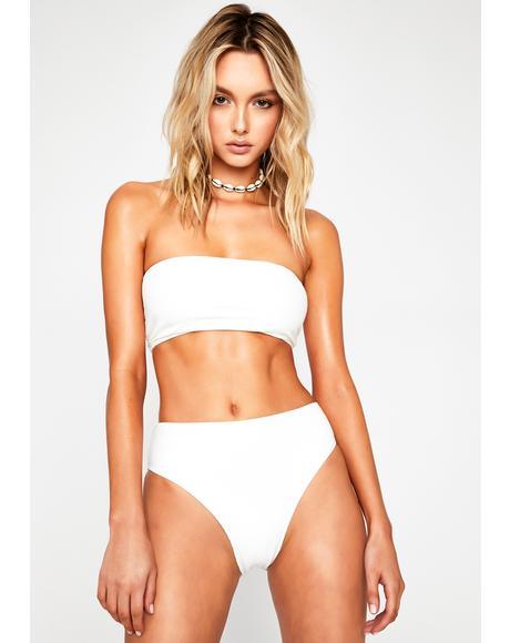 White Jenna Bikini Bottoms