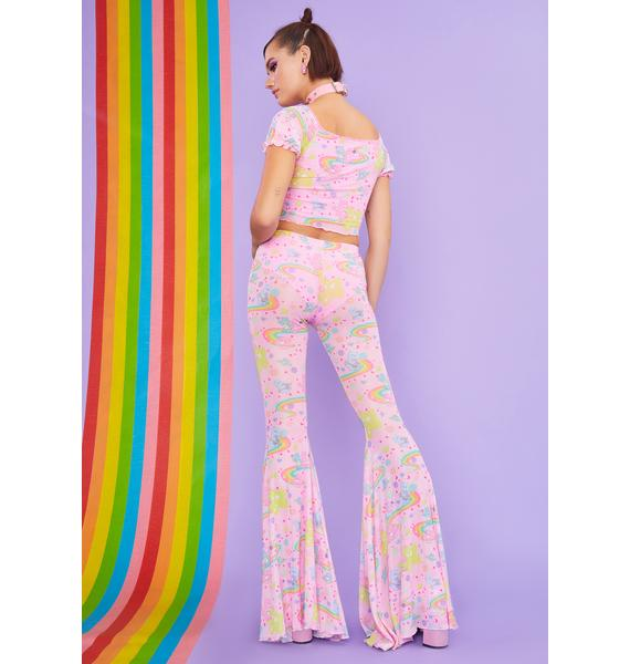 Dolls Kill x Care Bears Rainbow Ride Mesh Super Flares