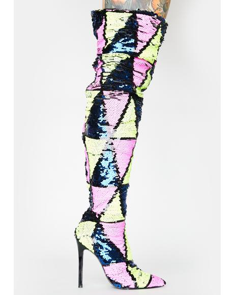 Yasmania Thigh High Boots