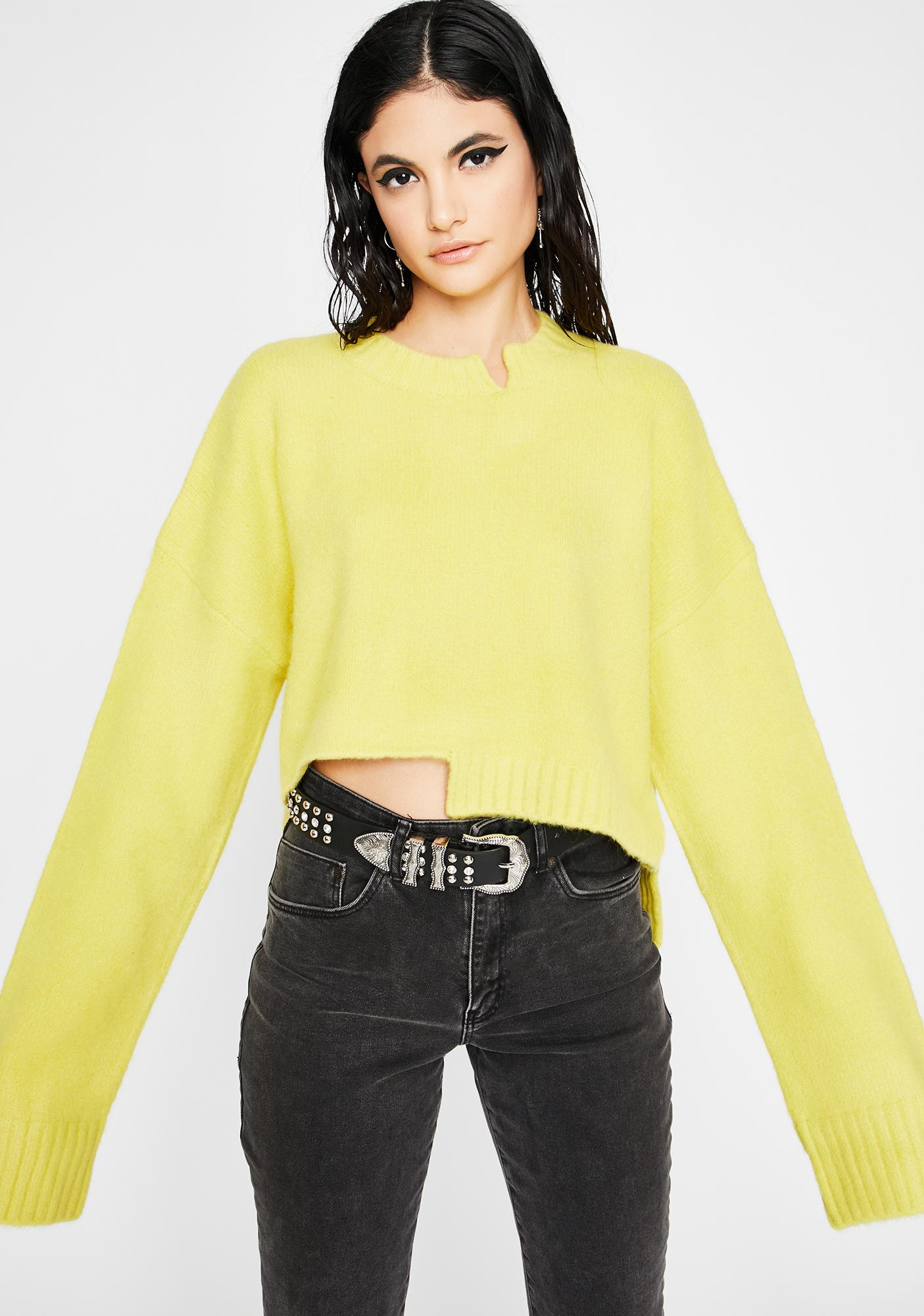 Electric Heatwave Slouchy Sweater