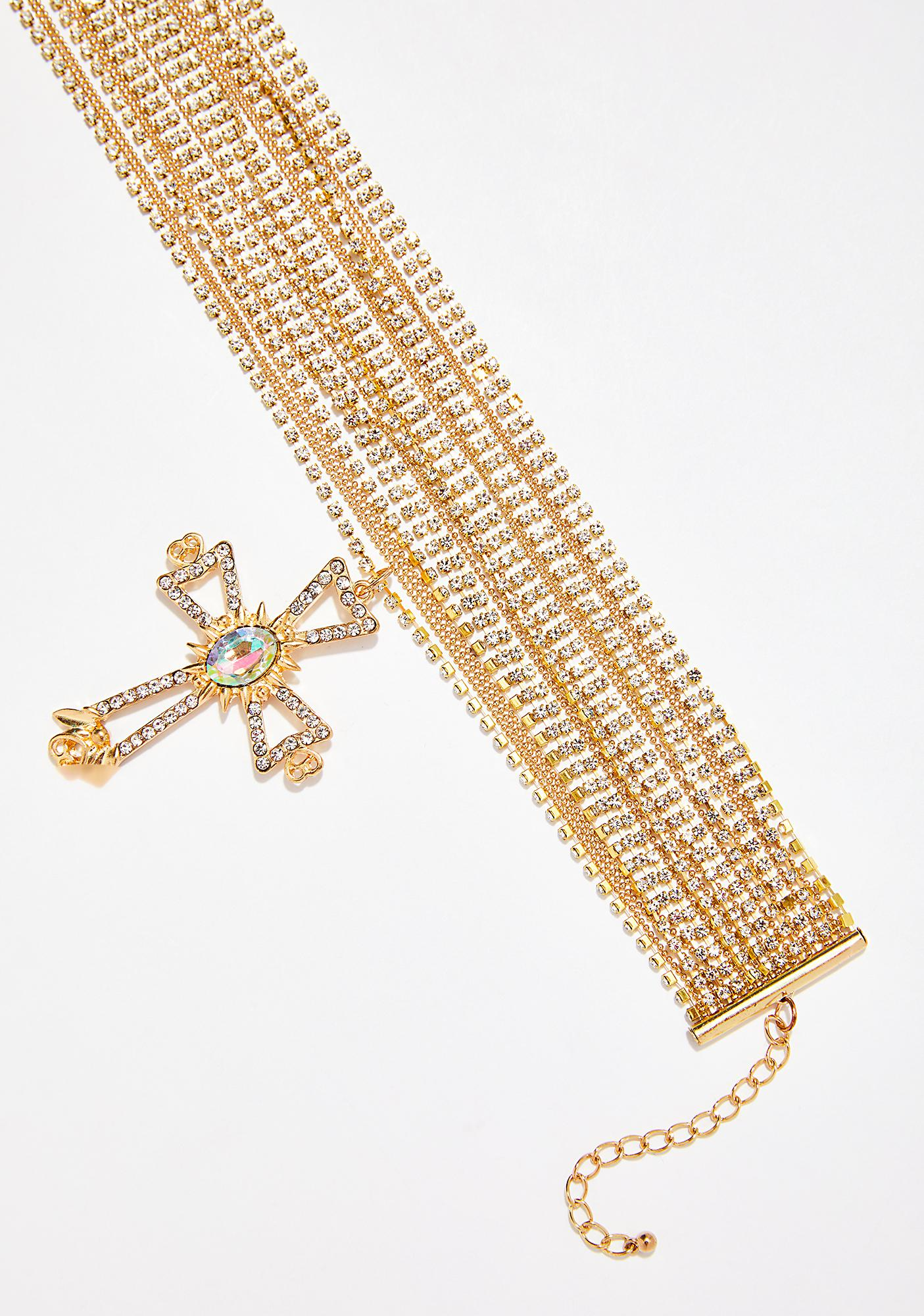 Cross That Layered Cross Necklace