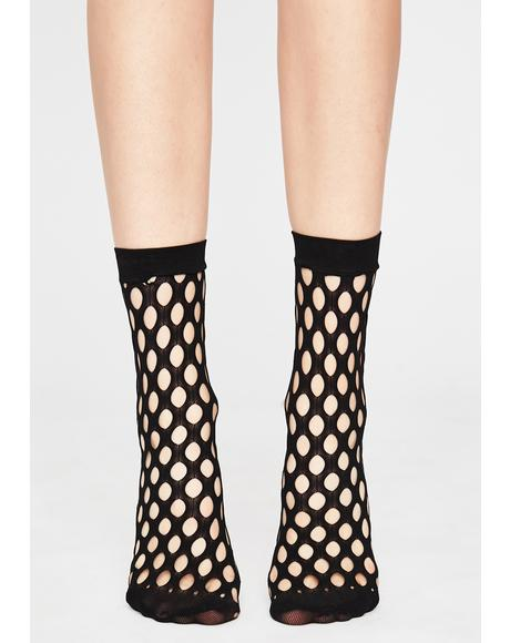 Warped Destiny Fishnet Socks
