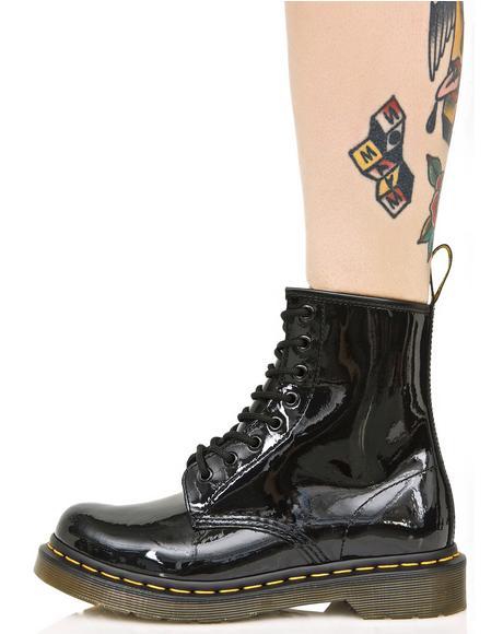 Black Patent 1460 8 Eye Boots