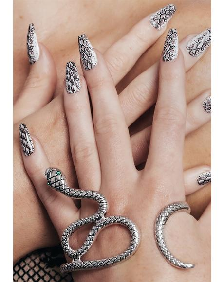 Serpent Acrylic Nails