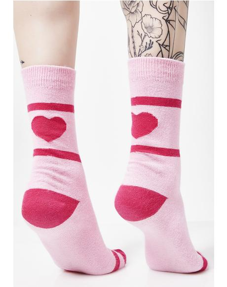 Back Of Heart Socks