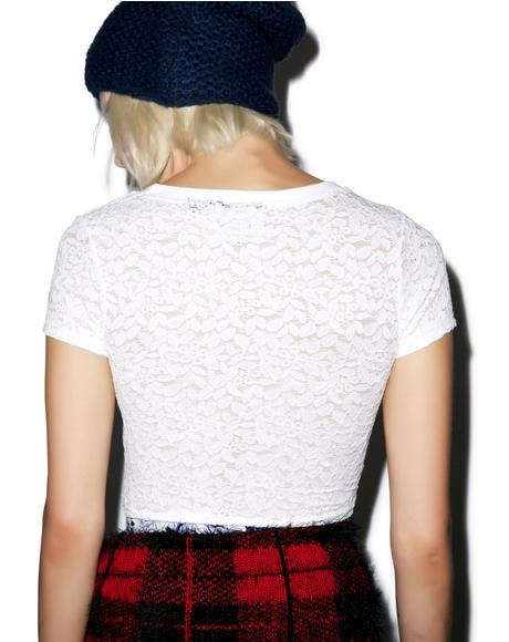 Can't Deny Lace Tee