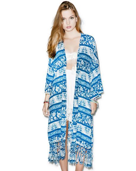 Indigo Wind Kimono