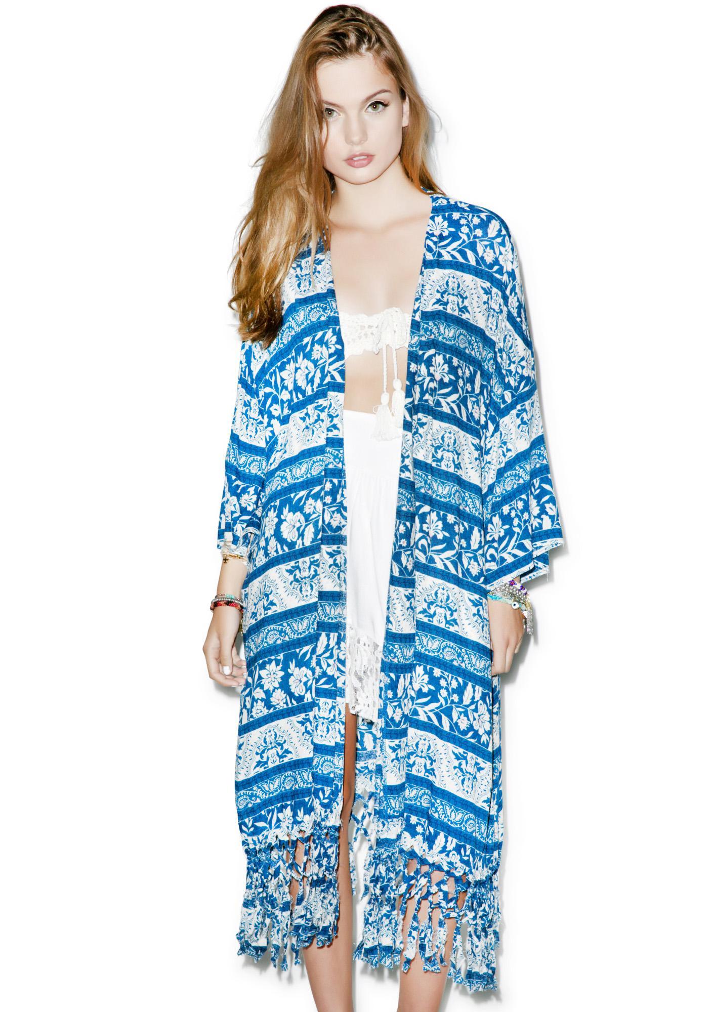 Somedays Lovin Indigo Wind Kimono