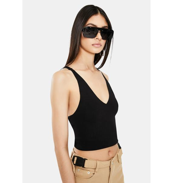 Stop Playin' Halter Crop Top