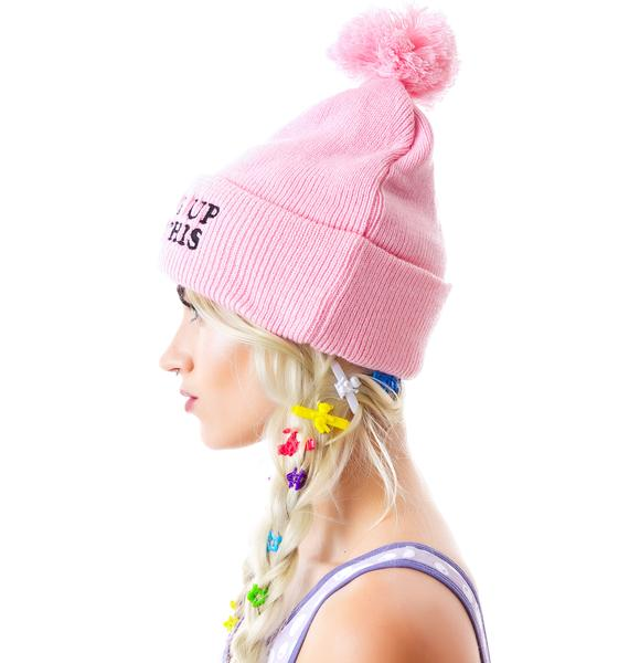 Woke Up Like This Pom Pom Beanie