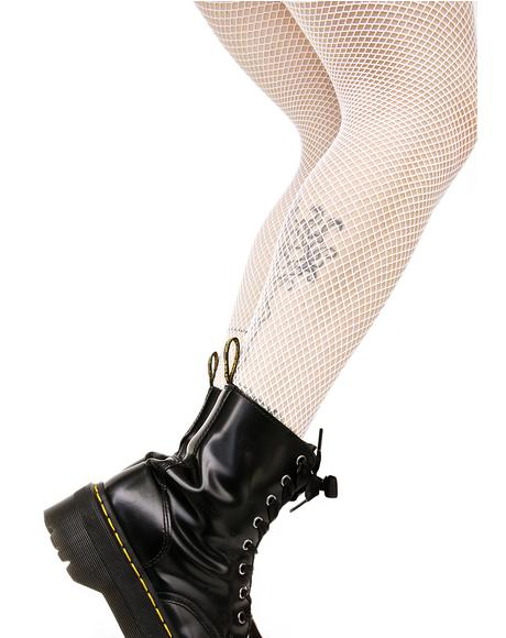 Bone Demon Days Fishnet Tights