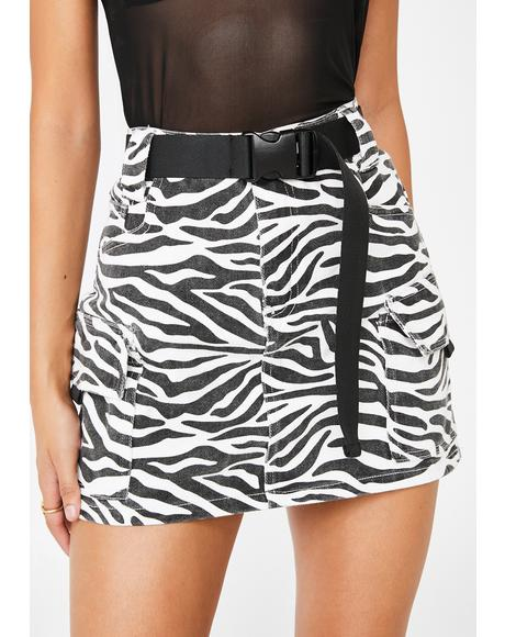Wild Intentions Cargo Skirt