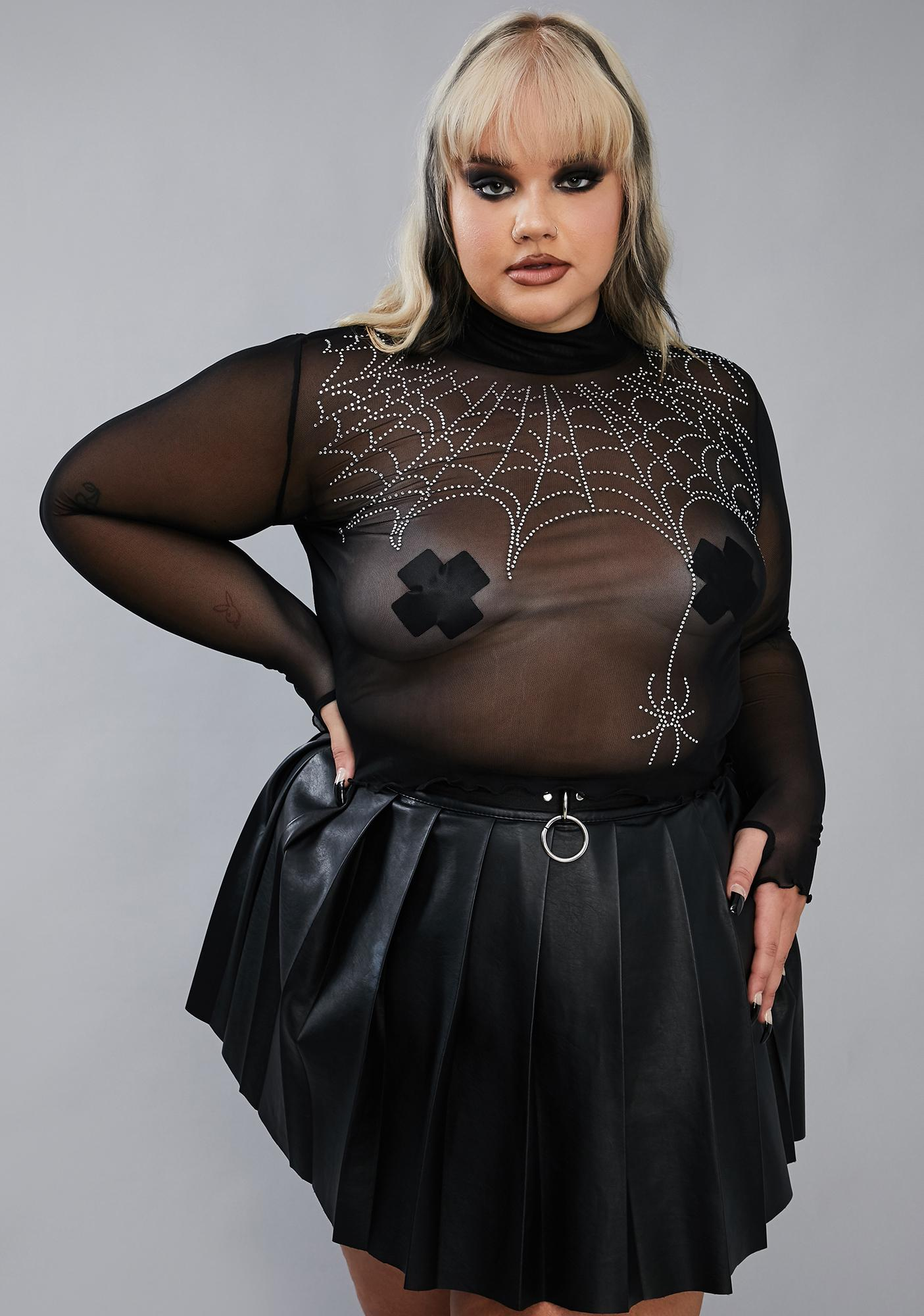 Widow Let's Spin A Tale Mesh Top