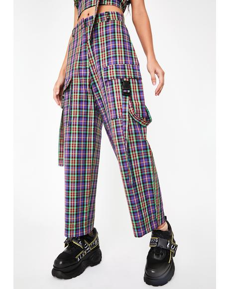 Break Plaid Cargo Pants