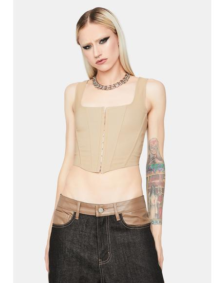 Down For It Corset Top