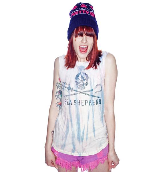 Chaser Sea Shepherd Distressed Muscle Tee