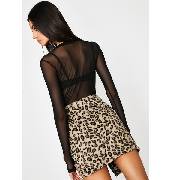 Picture Purrfect Moto Skirt
