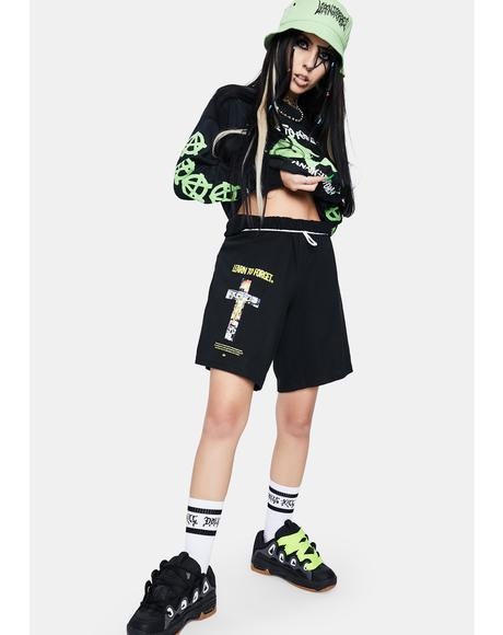 X Champion Capitalist Christ Shorts