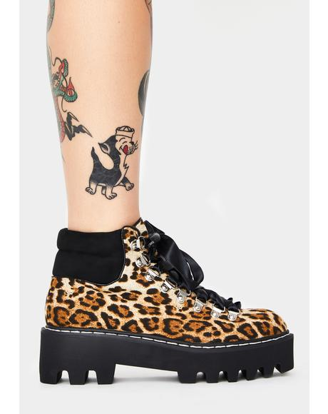 Leopard Remedy Platform Boots