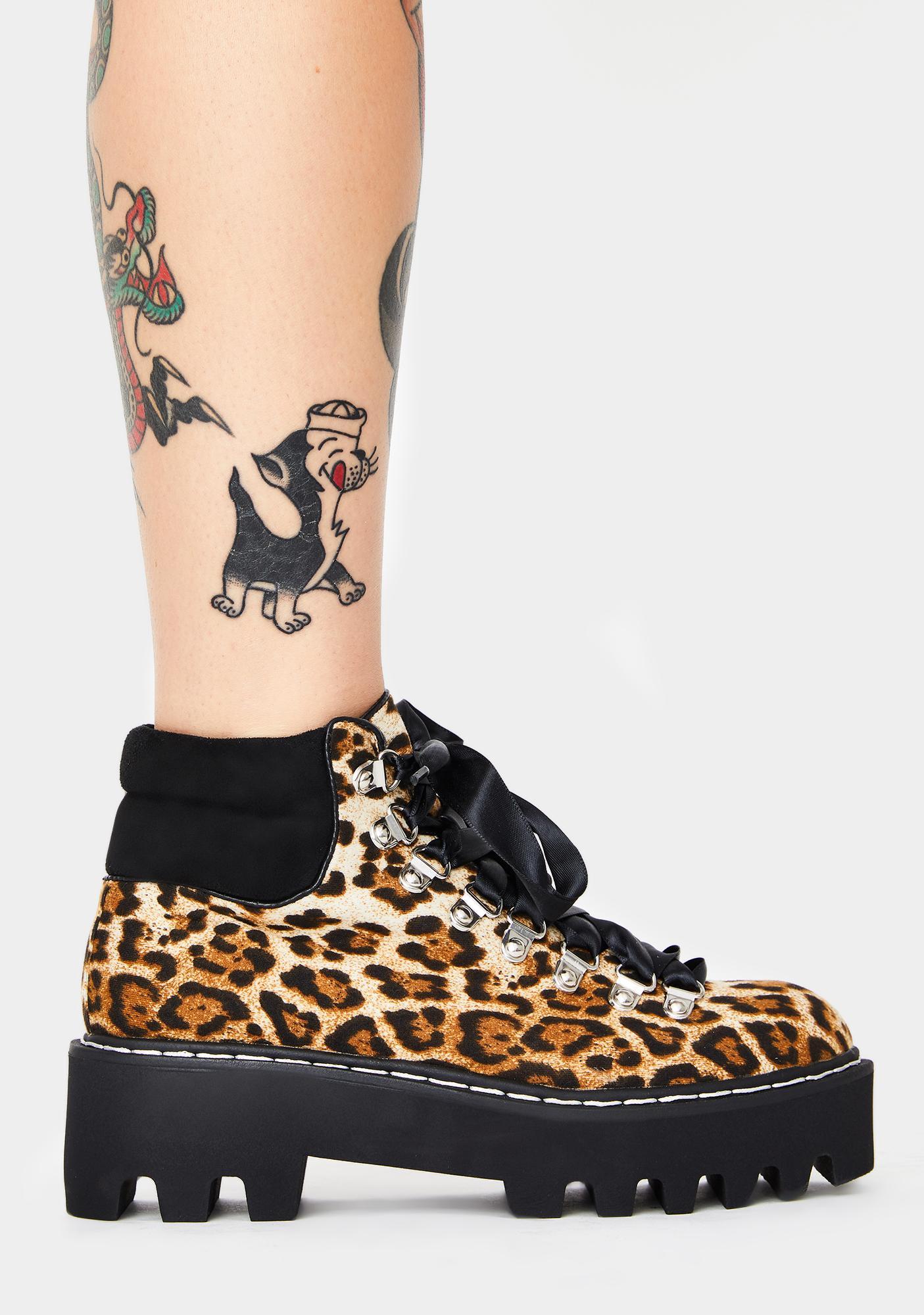 Lamoda Leopard Remedy Platform Boots