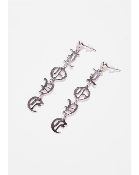Spell It Out Earrings