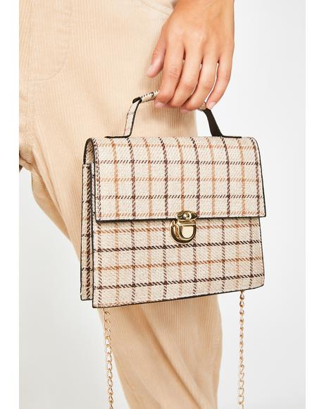 Pen Pals Plaid Handbag