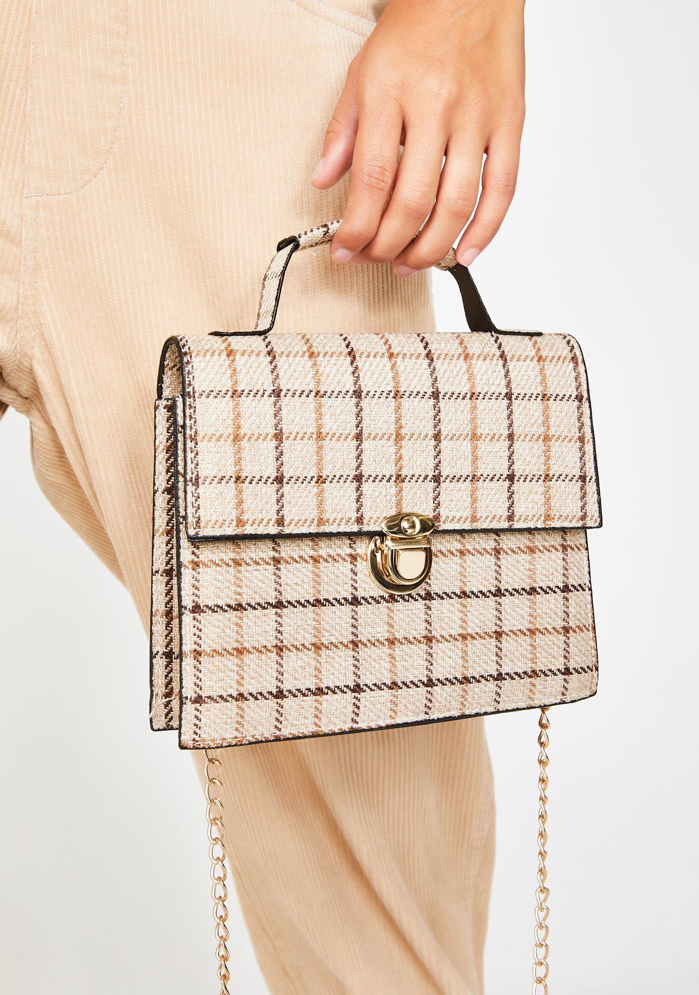Pen Pals Plaid Handbag