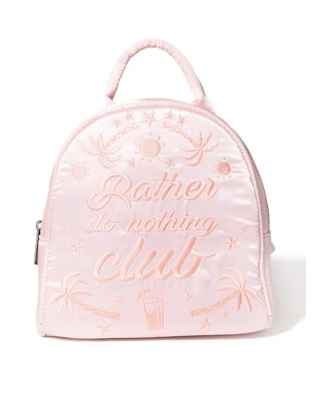 Rather Do Nothing Club Mini Backpack