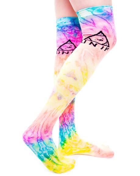 Knee Dye Socks